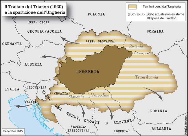 r/MapPorn - The end of the Great Hungary after the Treaty of Trianon (1920)