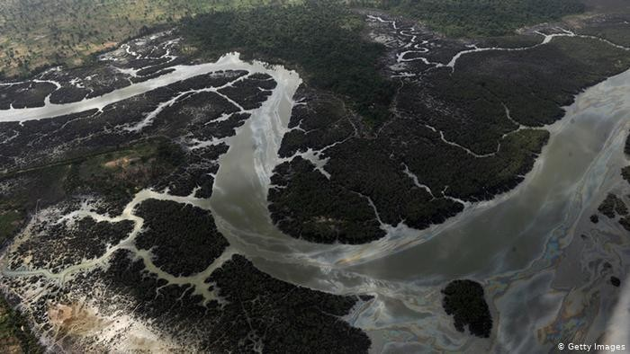 Niger River Delta in Nigeria devastated as a result of spills from oil thieves and Shell operational failures (Photo: PIUS UTOMI EKPEI/AFP/Getty Images)